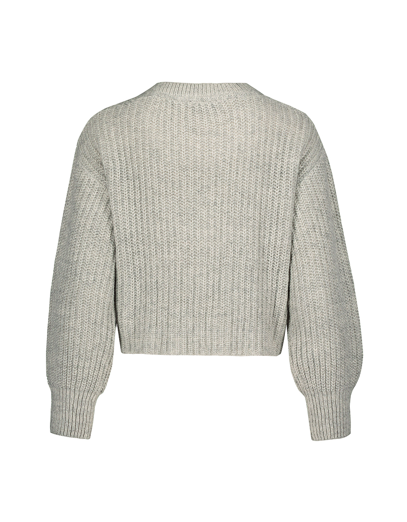 Grey Jumper with Chain Strass