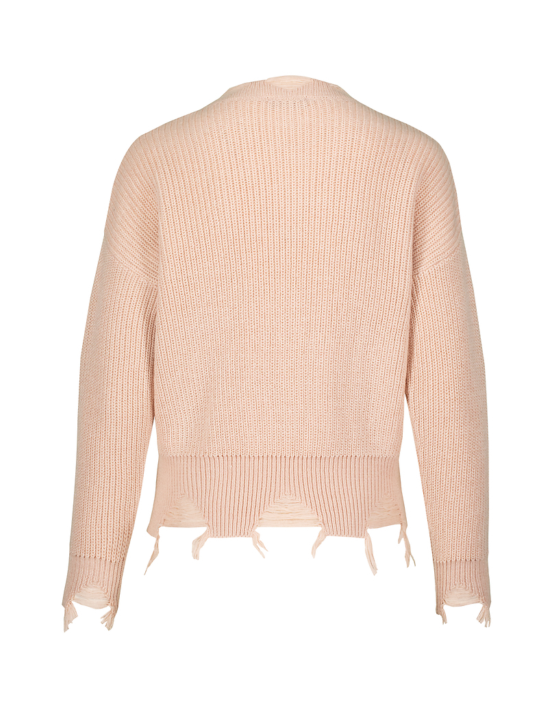Pink Destroyed Jumper