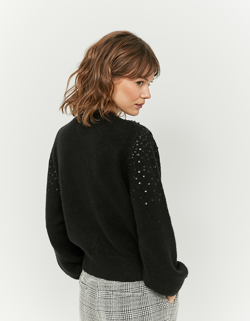 Black Sequins Jumper