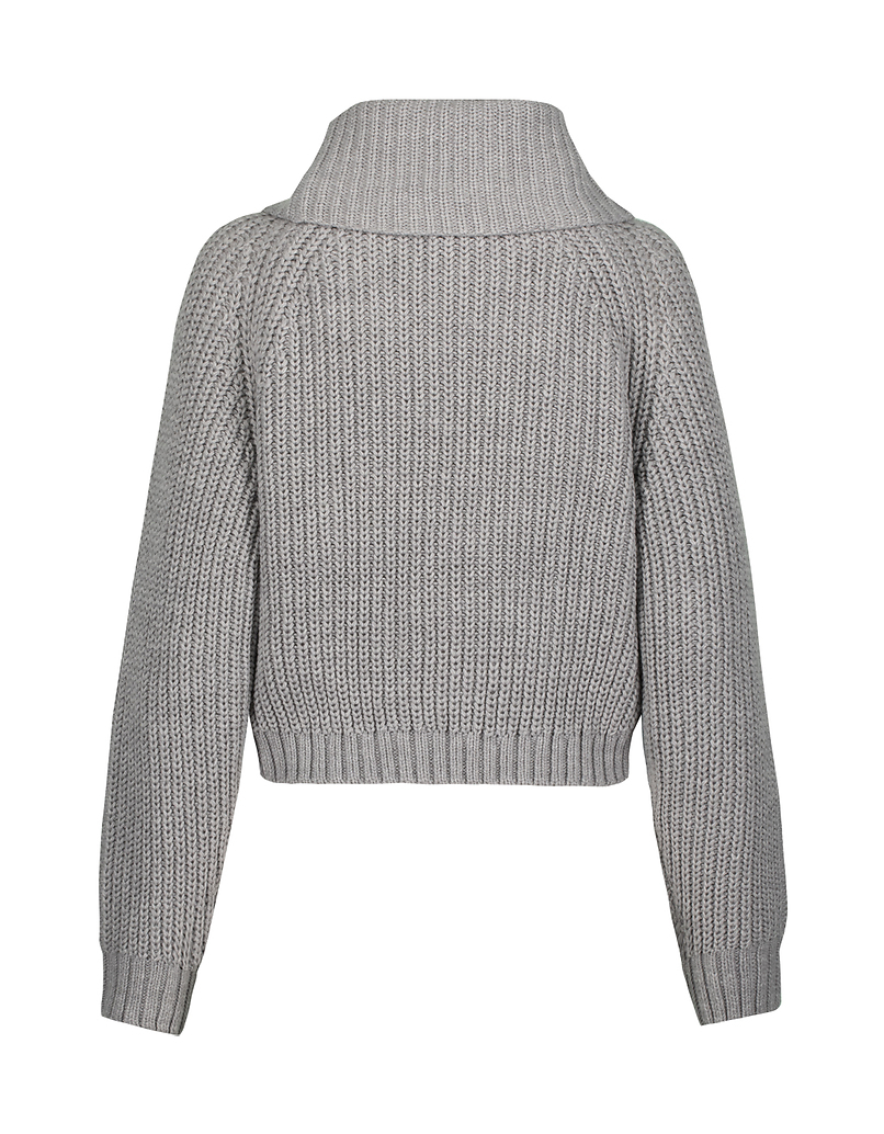 Grey Jumper with Cowl Neck