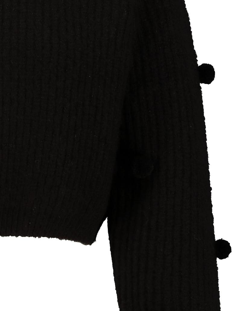 Black Jumper with Pompom