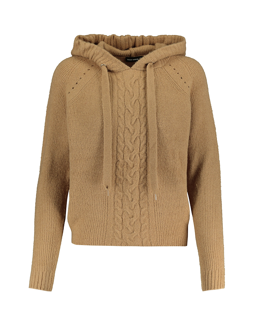 Beige Jumper with Hood