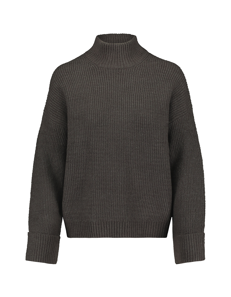 Grey Jumper with Mock Neck