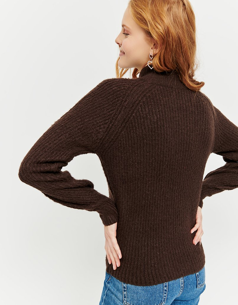 Brown Jumper with Mock Neck