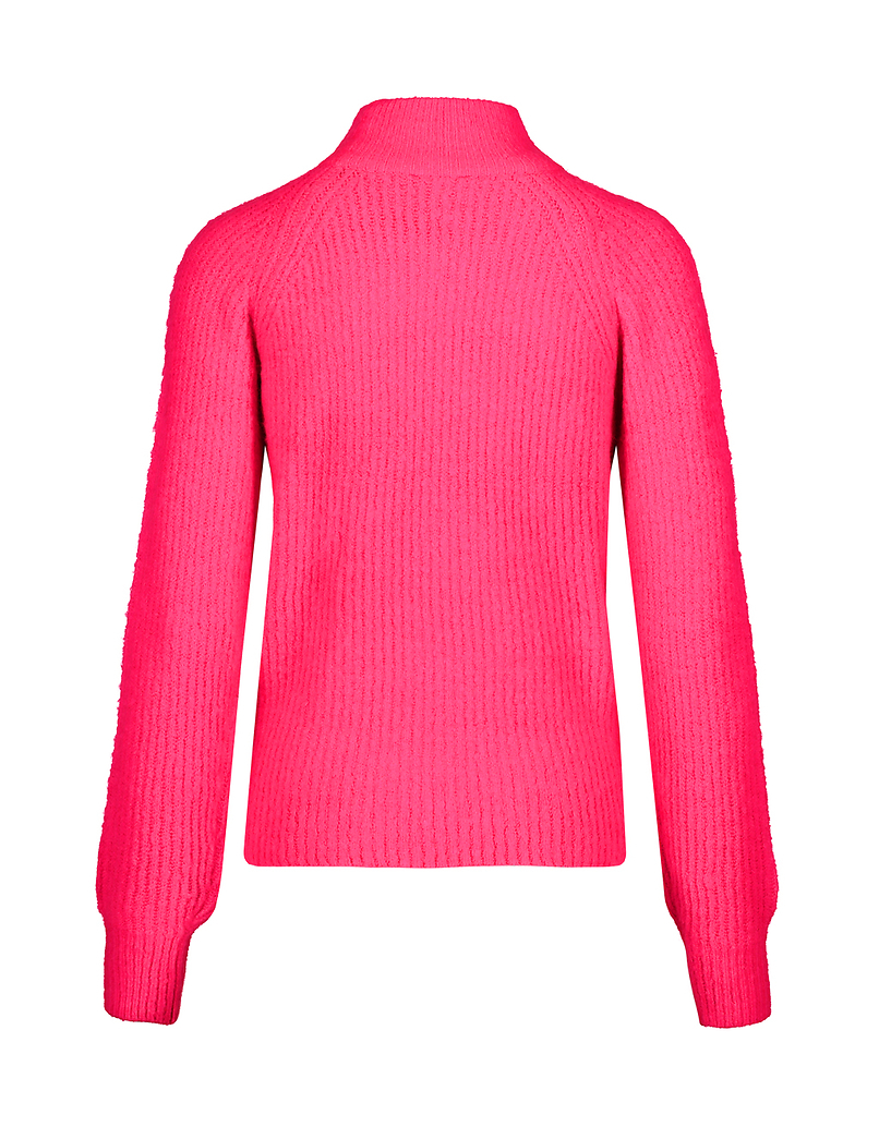 Maglione Rosa con Collo Alto