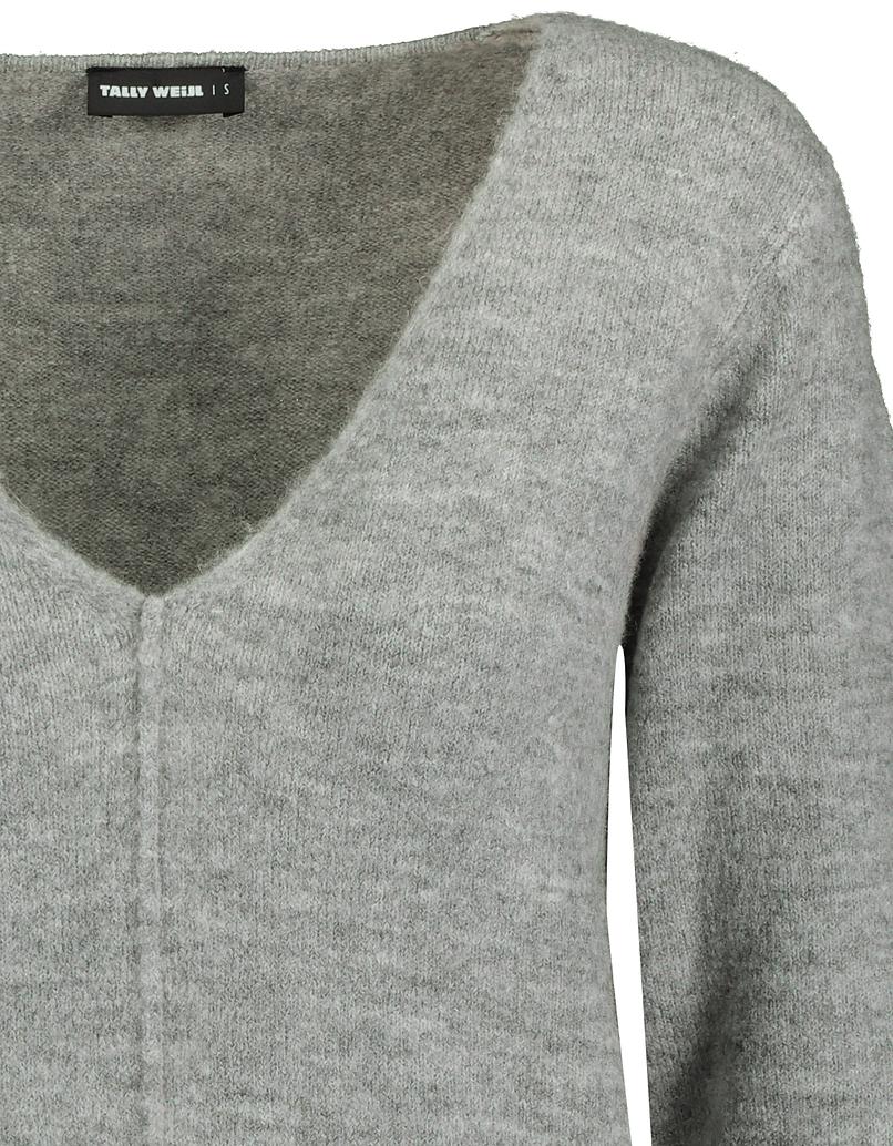 Grey Jumper with V-Neck
