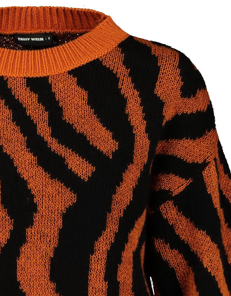 Maglione Arancione Animalier