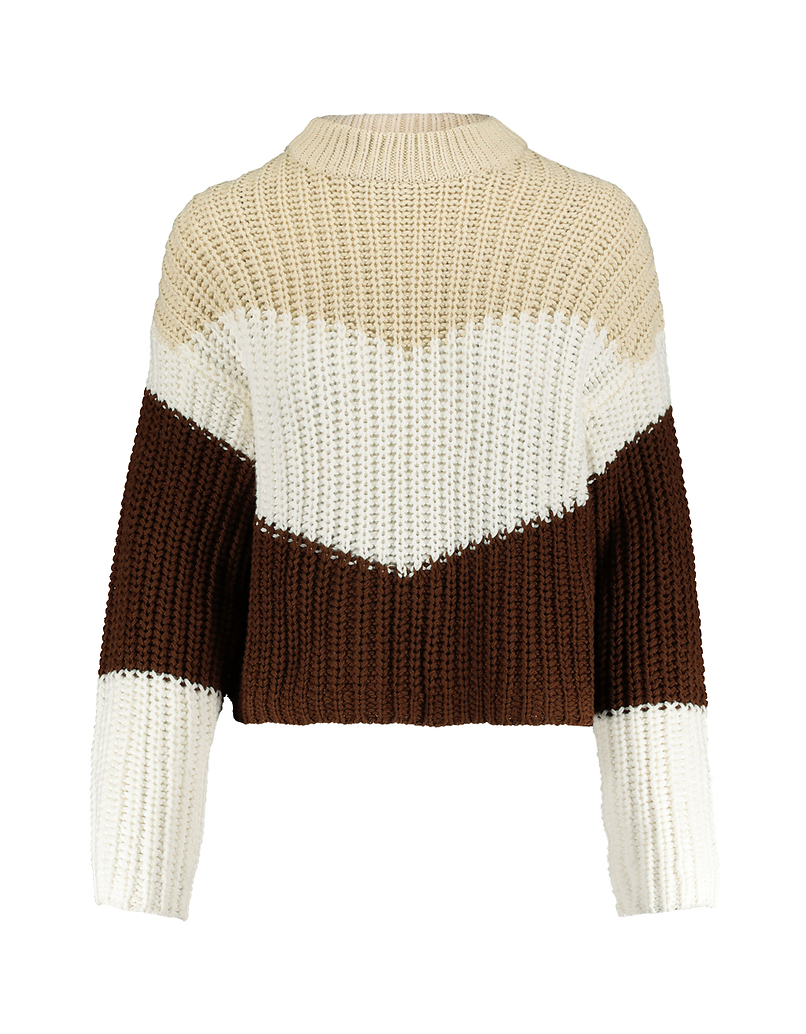 Multicolor Jumper with Mock Neck