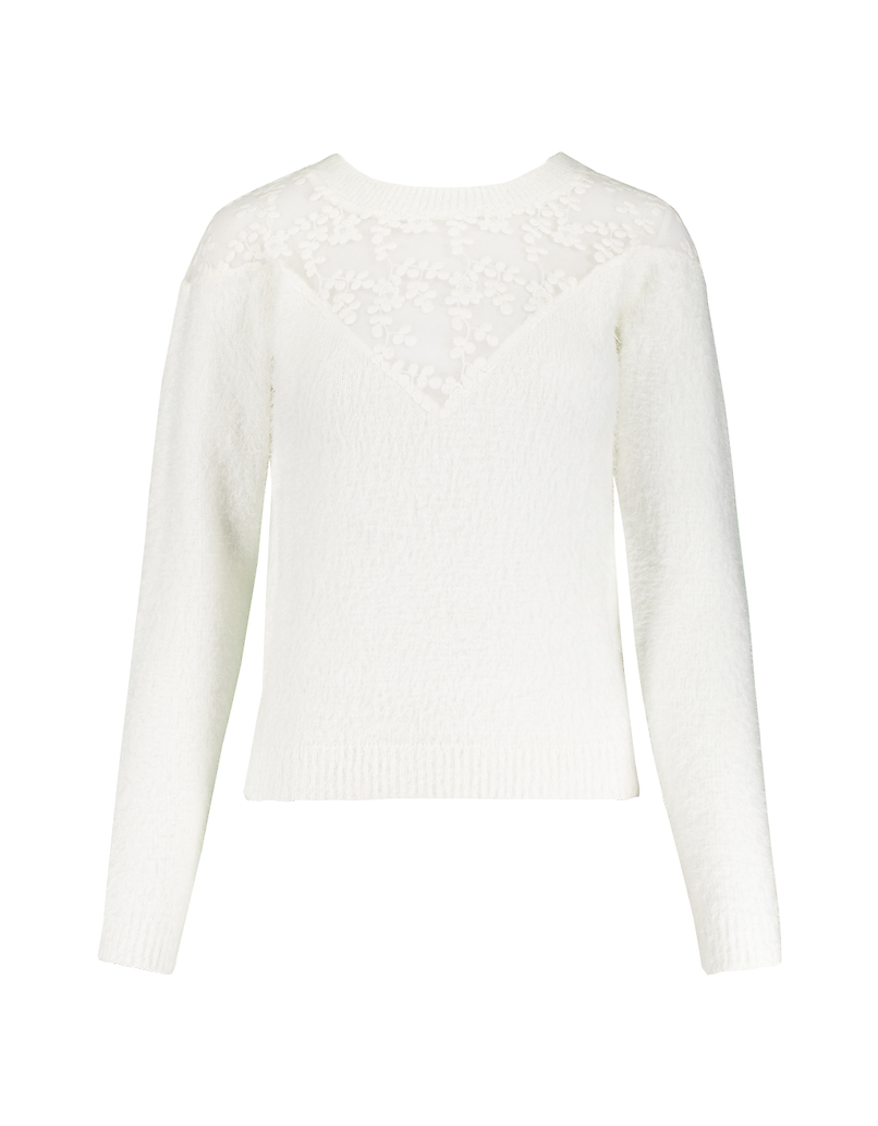 White Jumper with Lace
