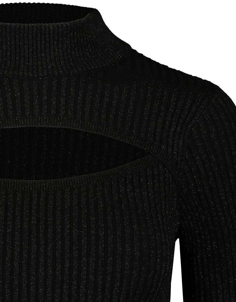 Schwarzes Strick-Top mit Cut-Outs