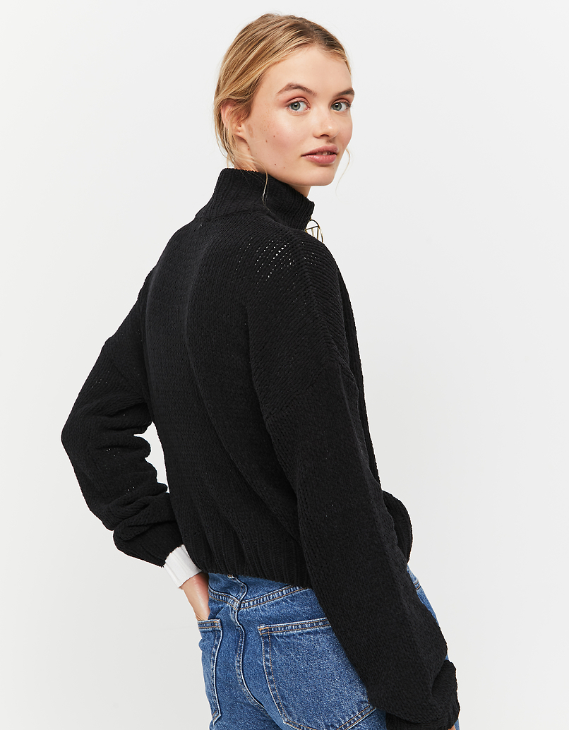 Black Jumper with Zip