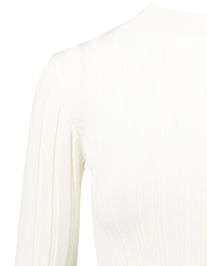 White Ribbed Jumper