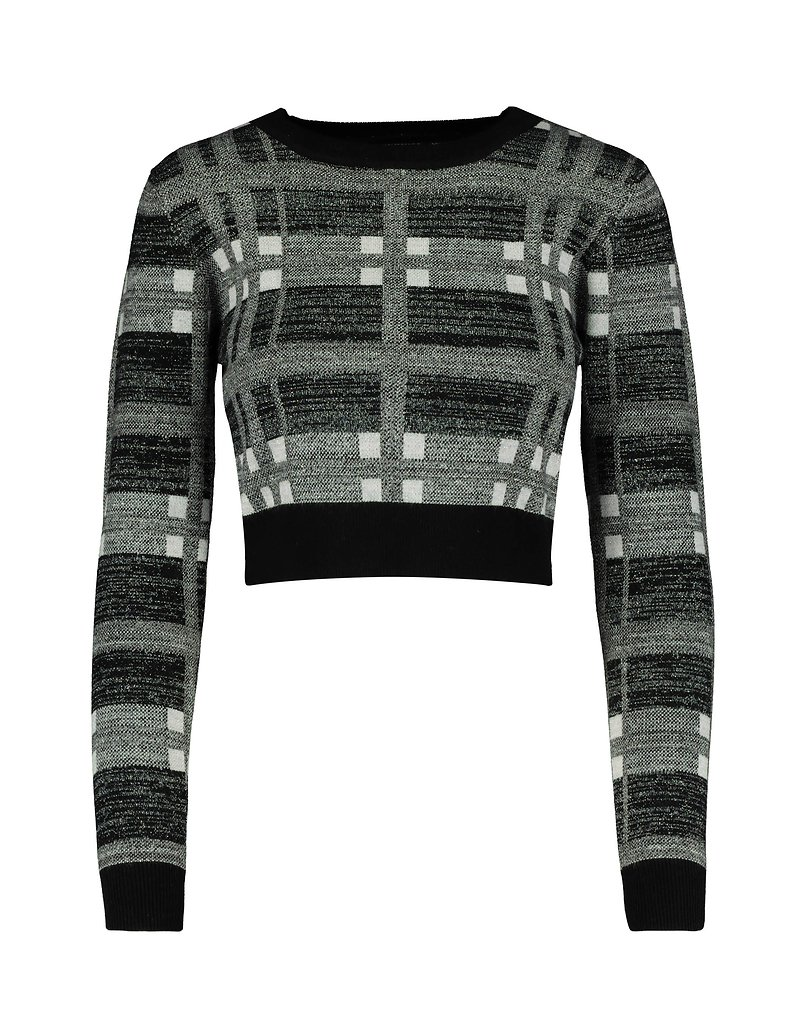 Check Cropped Jumper