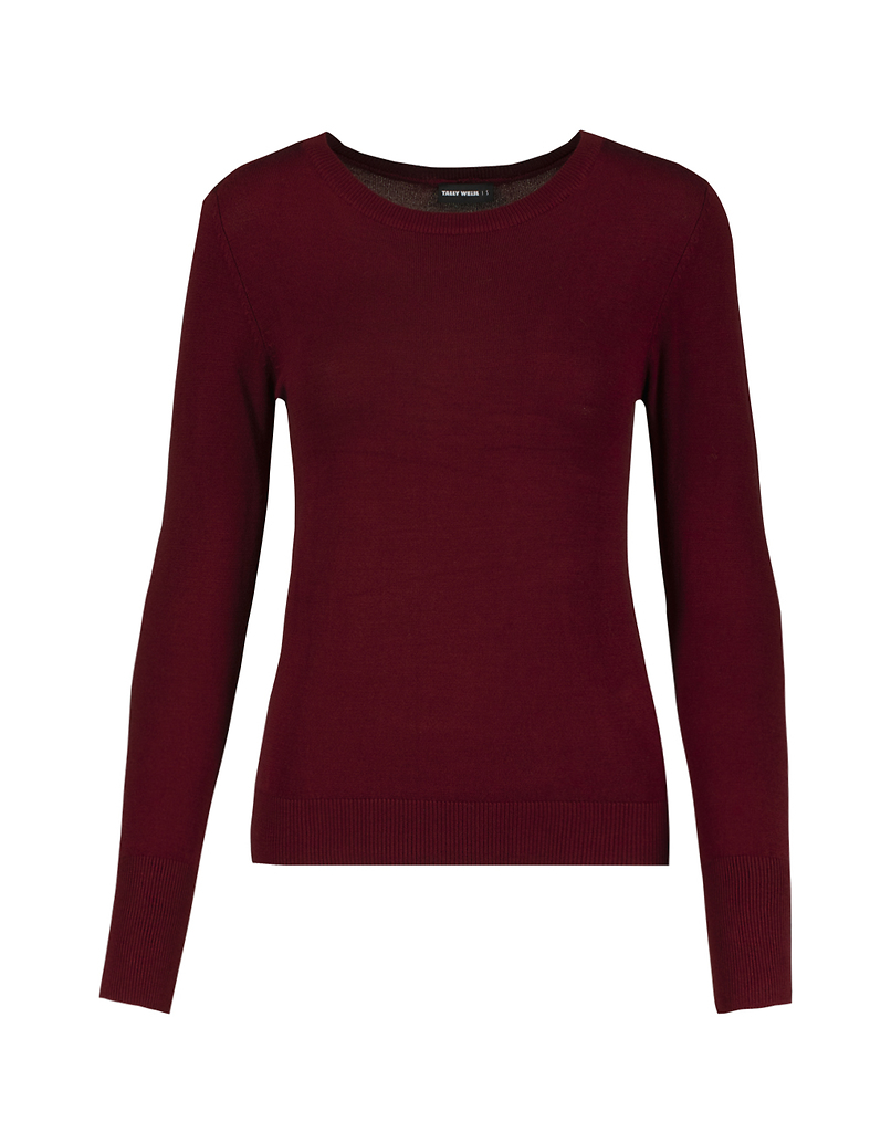 Burgundy Fitted Jumper