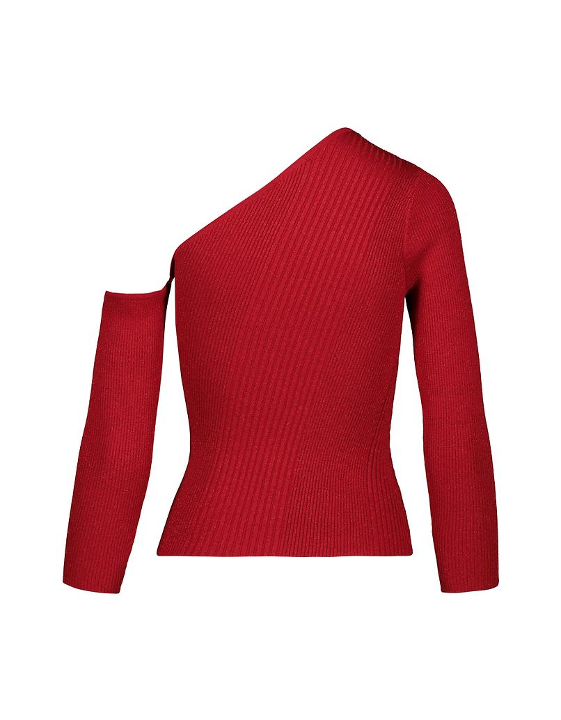 Red Off Shoulder Jumper