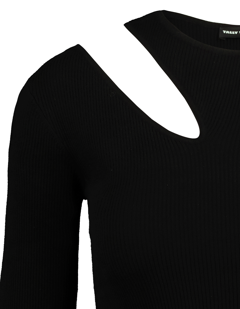 Black Jumper with Cut Out