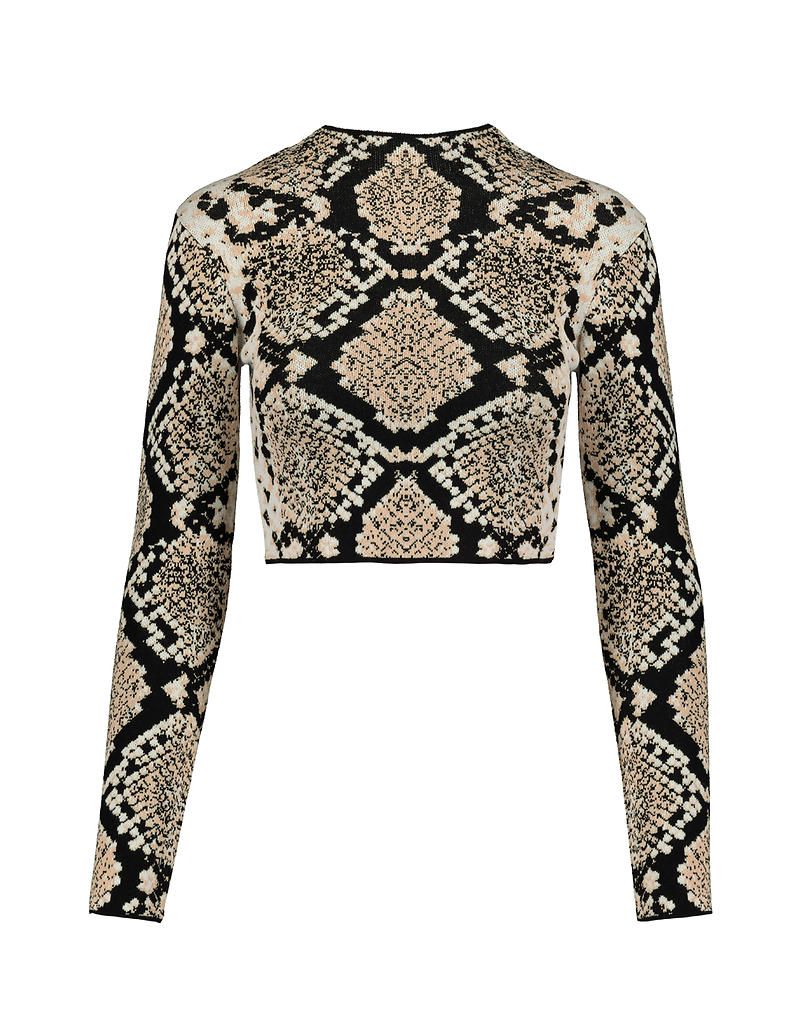 Pullover mit Schlangen-Muster