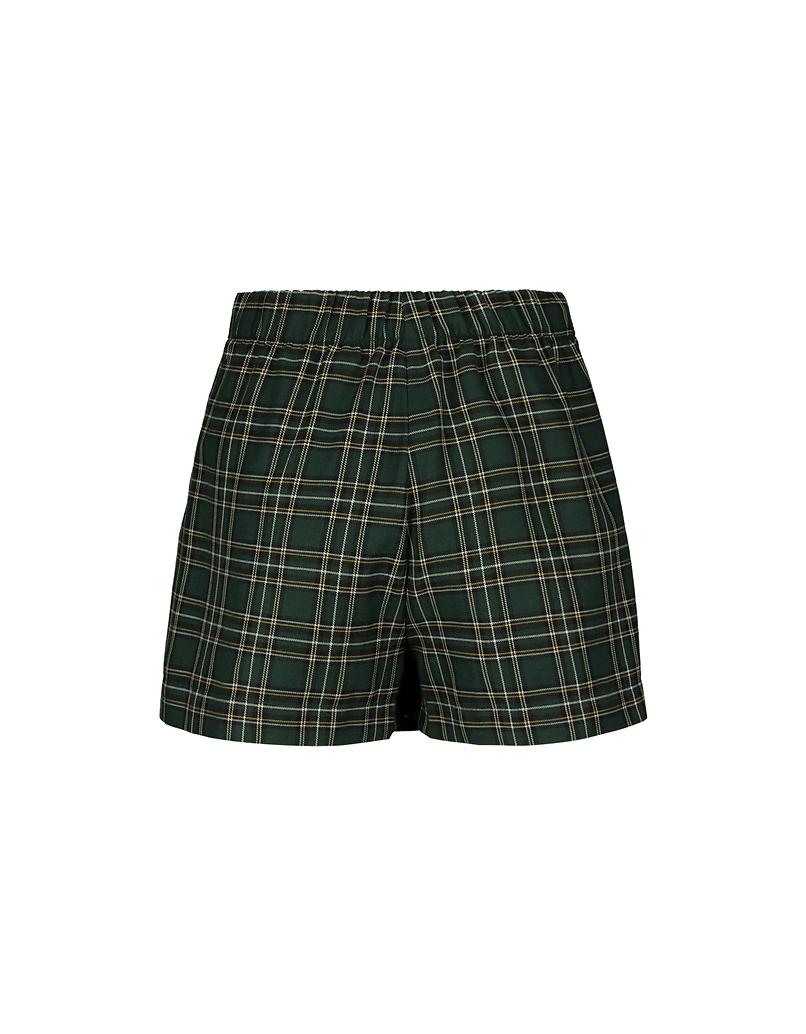 Zielone spódnico-spodnie w szkocką kratę