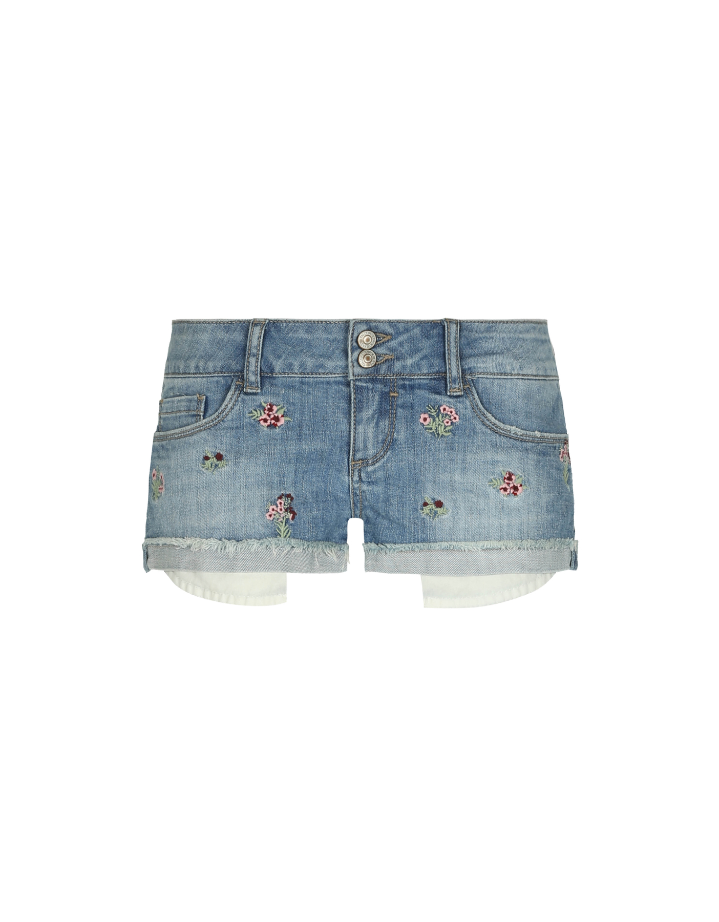 Pantaloncini in Denim Ricamati