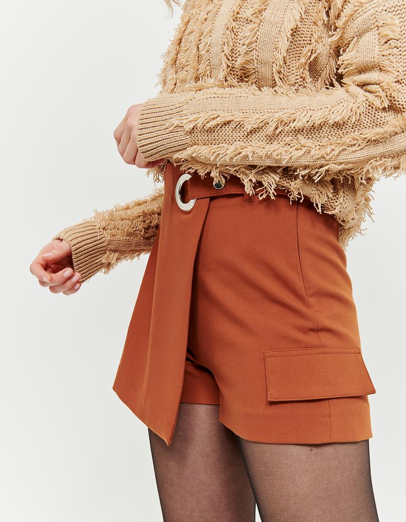 Koniakowe spódnico-spodnie wiązane z przodu