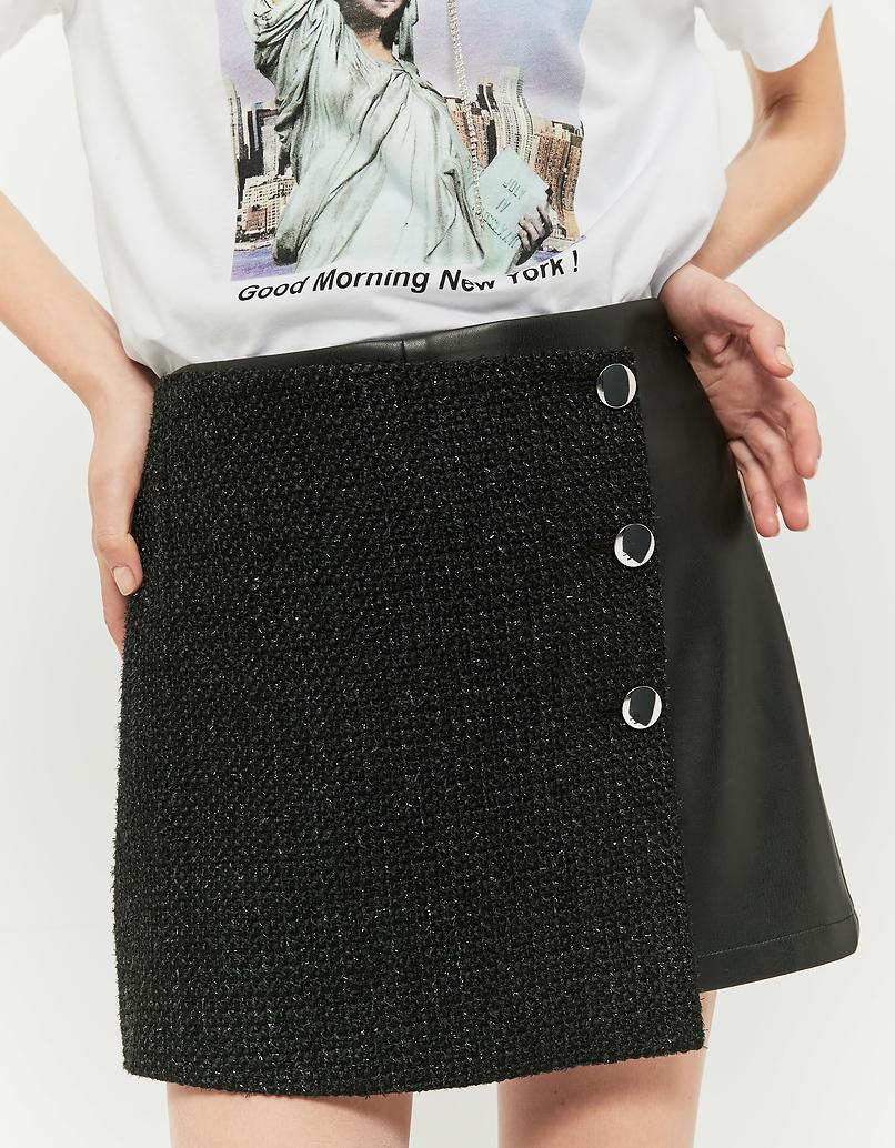 Spódnico-spodnie ze sztucznej skóry