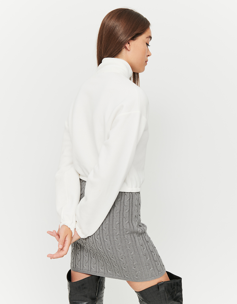 Grey Cable Knit Skirt
