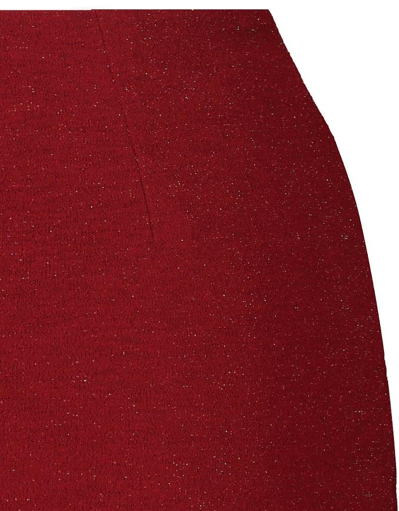 Roter Rock aus Lurex