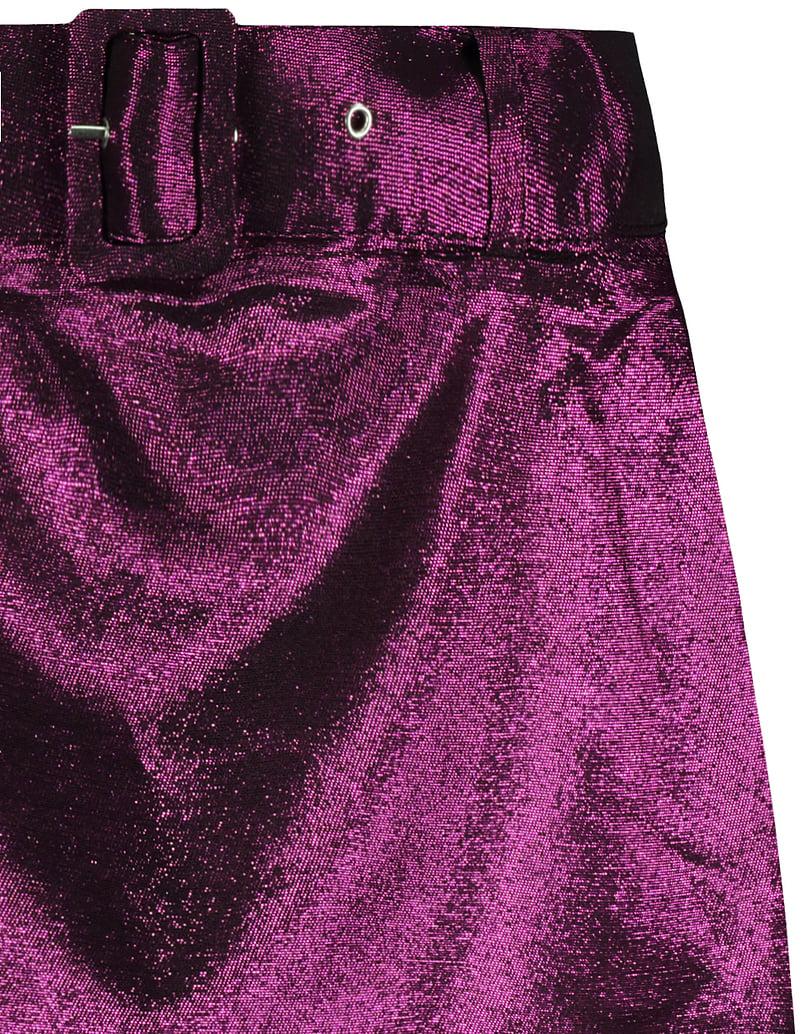 Jupe Violette avec Ceinture
