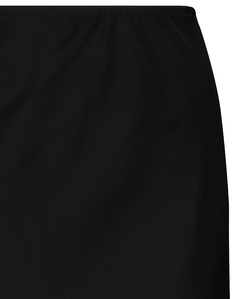 Schwarzer Midi Rock aus Satin