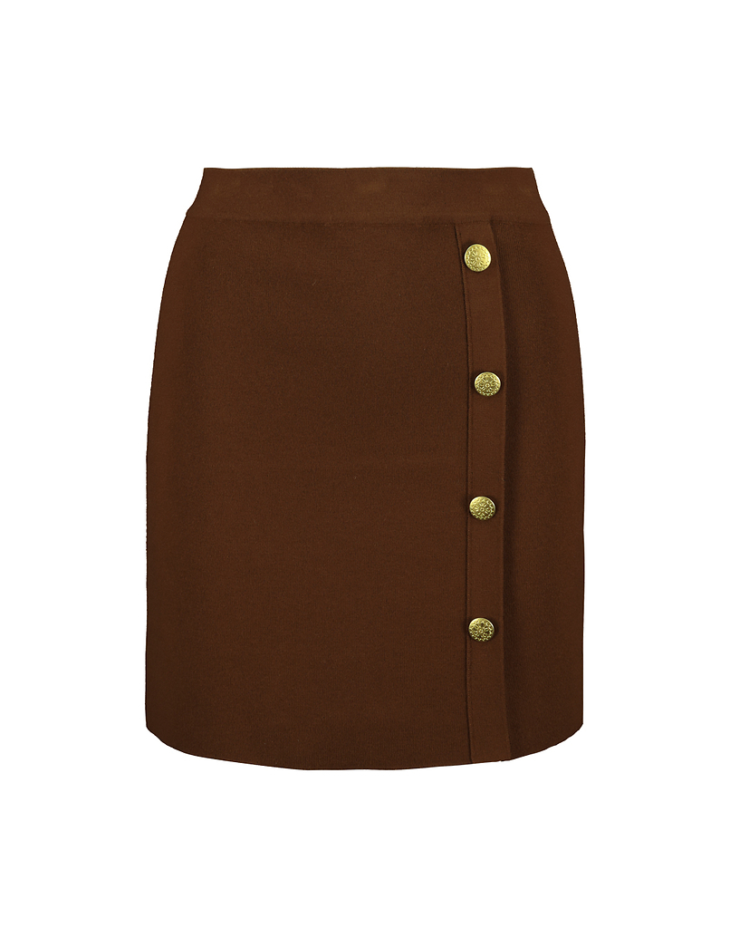 Brown Bodycon Knitted Skirt