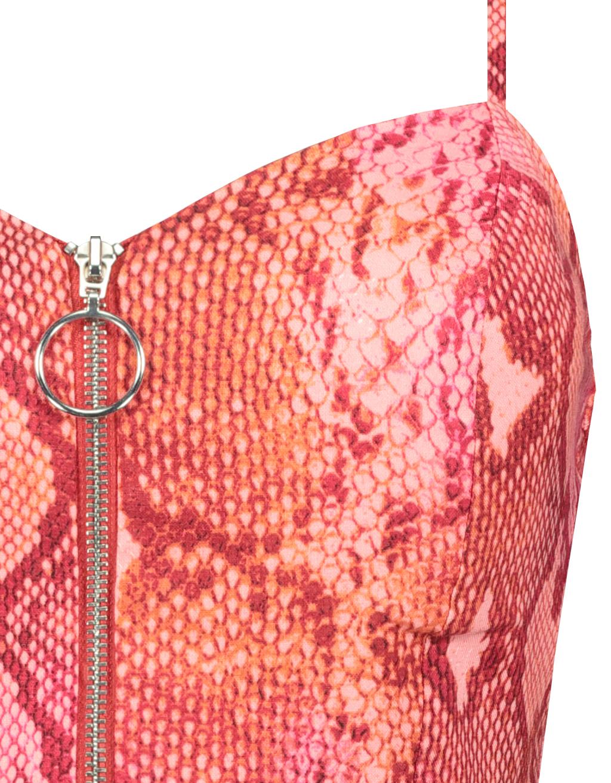 Rosa Crop Top in Schlangen-Muster