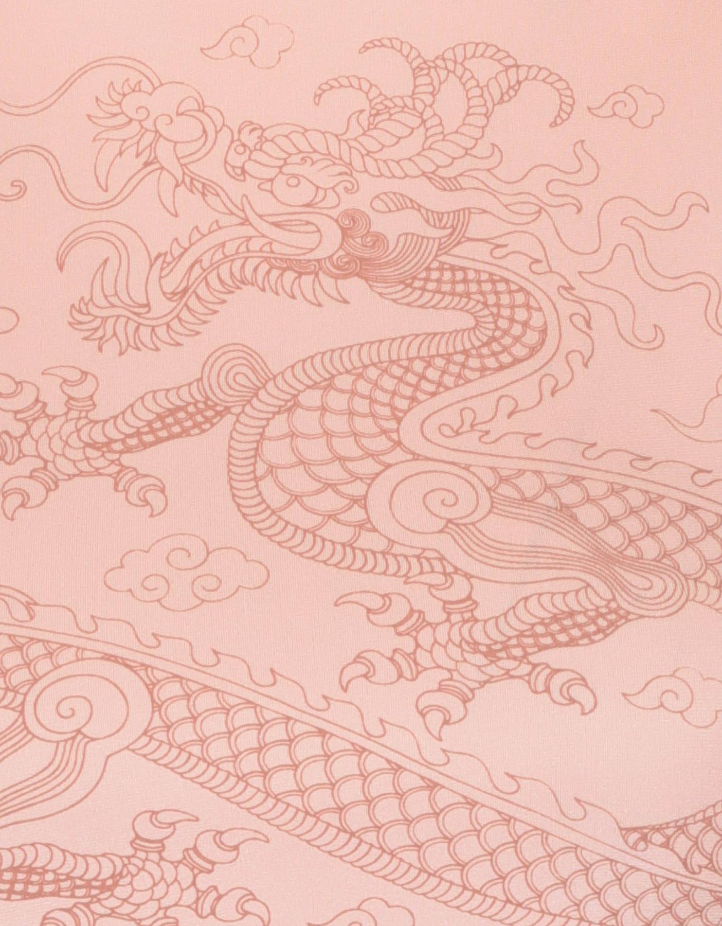 Top Rose  Imprimé Dragon