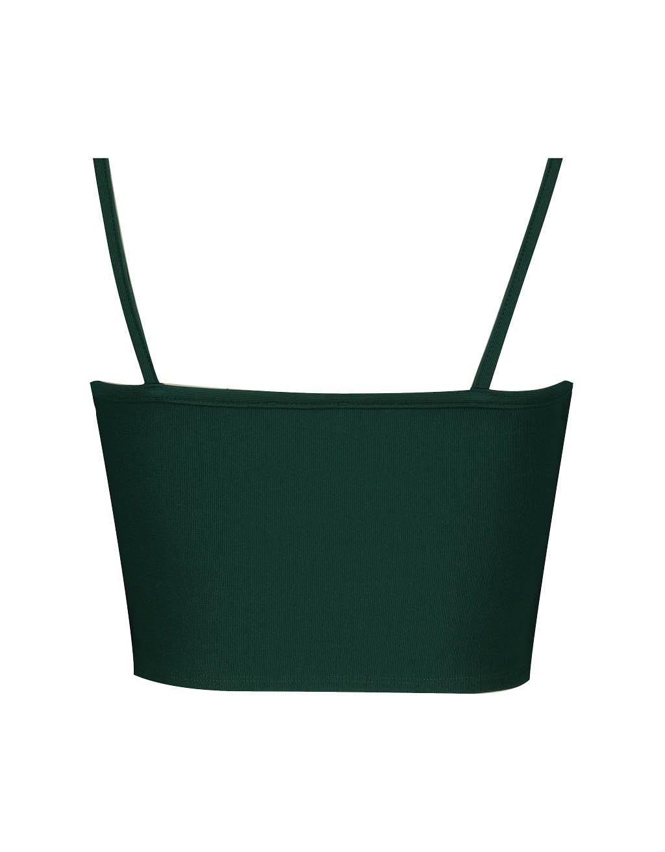 Green Wrap Crop Top
