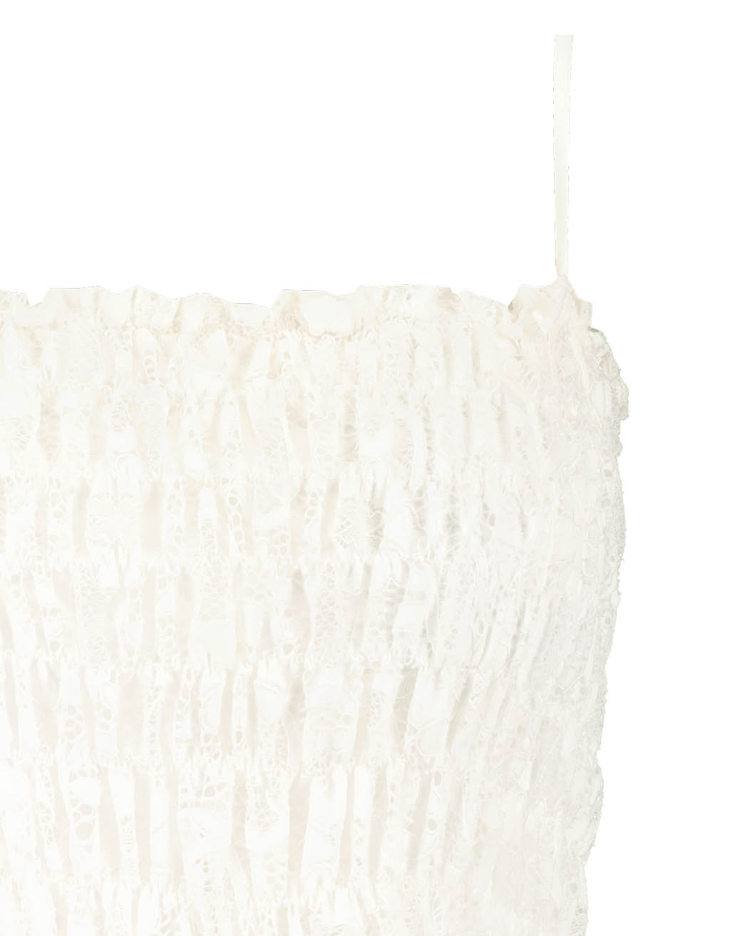 White Lace Smocked Top