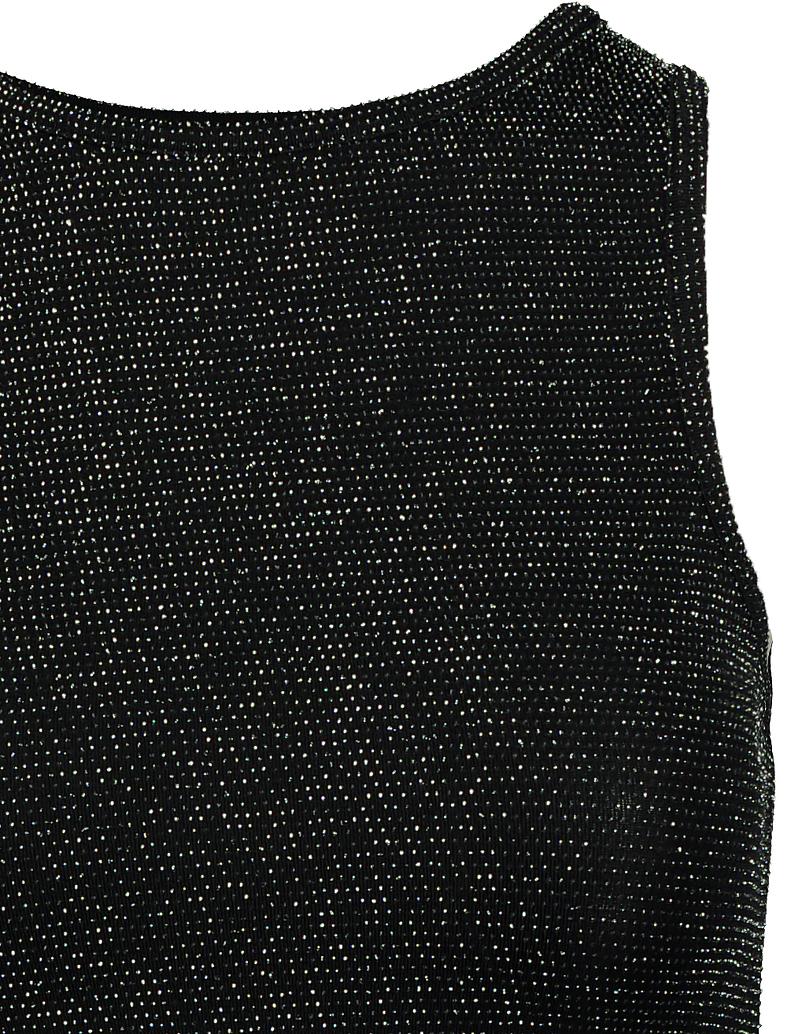 Schwarz- und Silbernes Crop Top