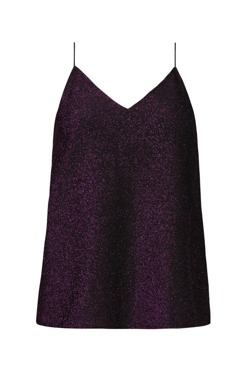 Purple Lurex Top