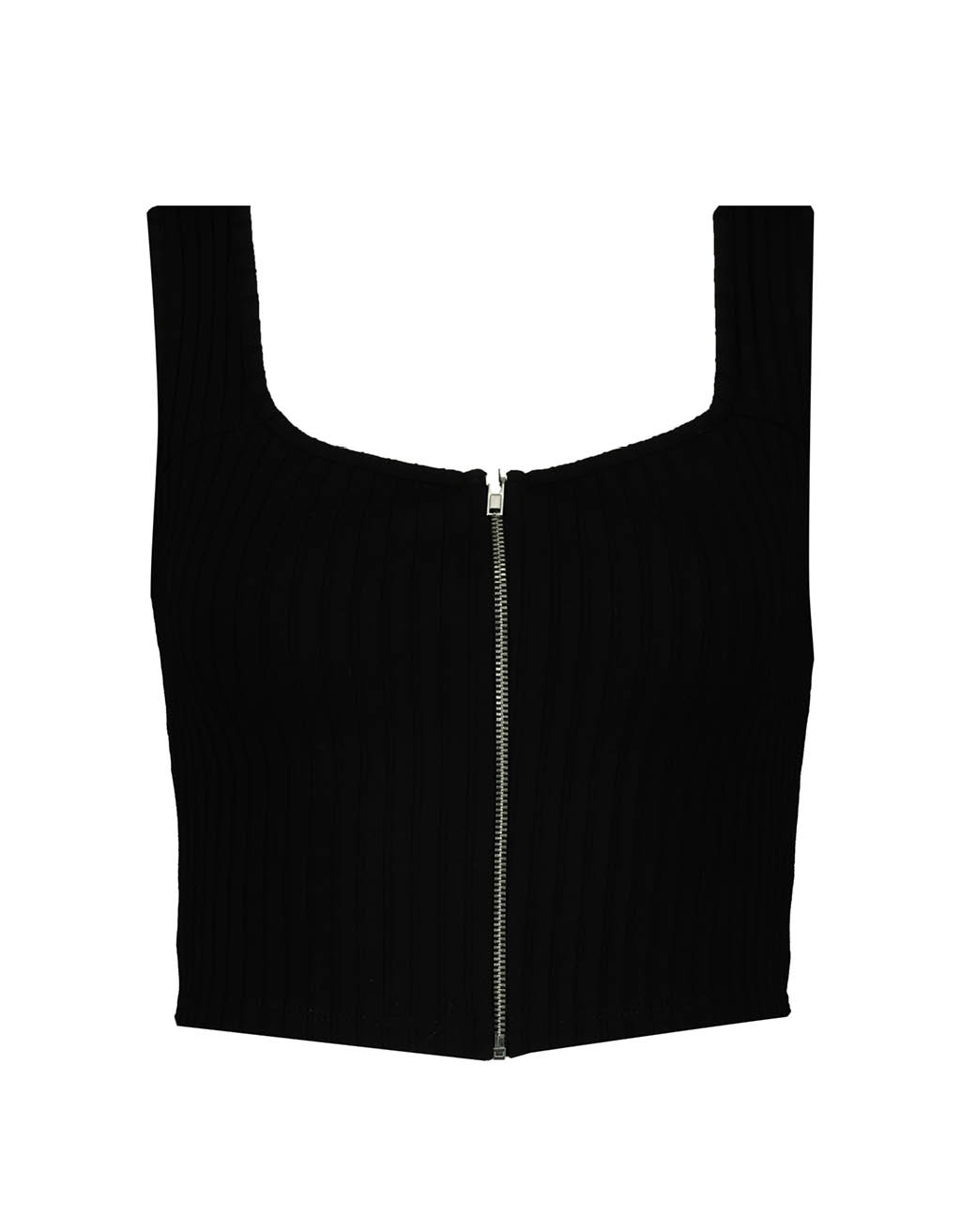 Black Zipped Top