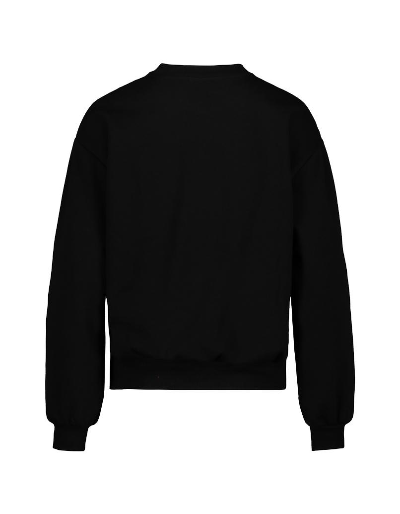 Black Bambi Sweatshirt with Rhinestones
