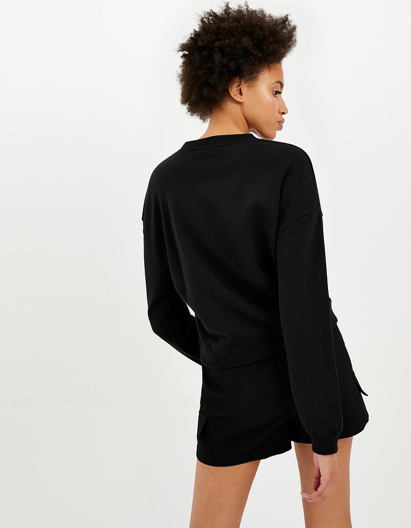 Black Sweatshirt with Slogan