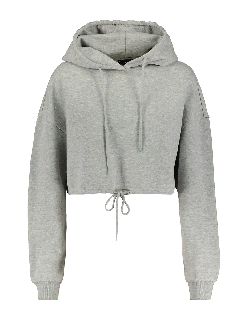 Grey Hoodie with Drawstring