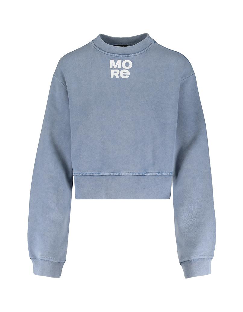 Baby Blue Cropped Sweatshirt