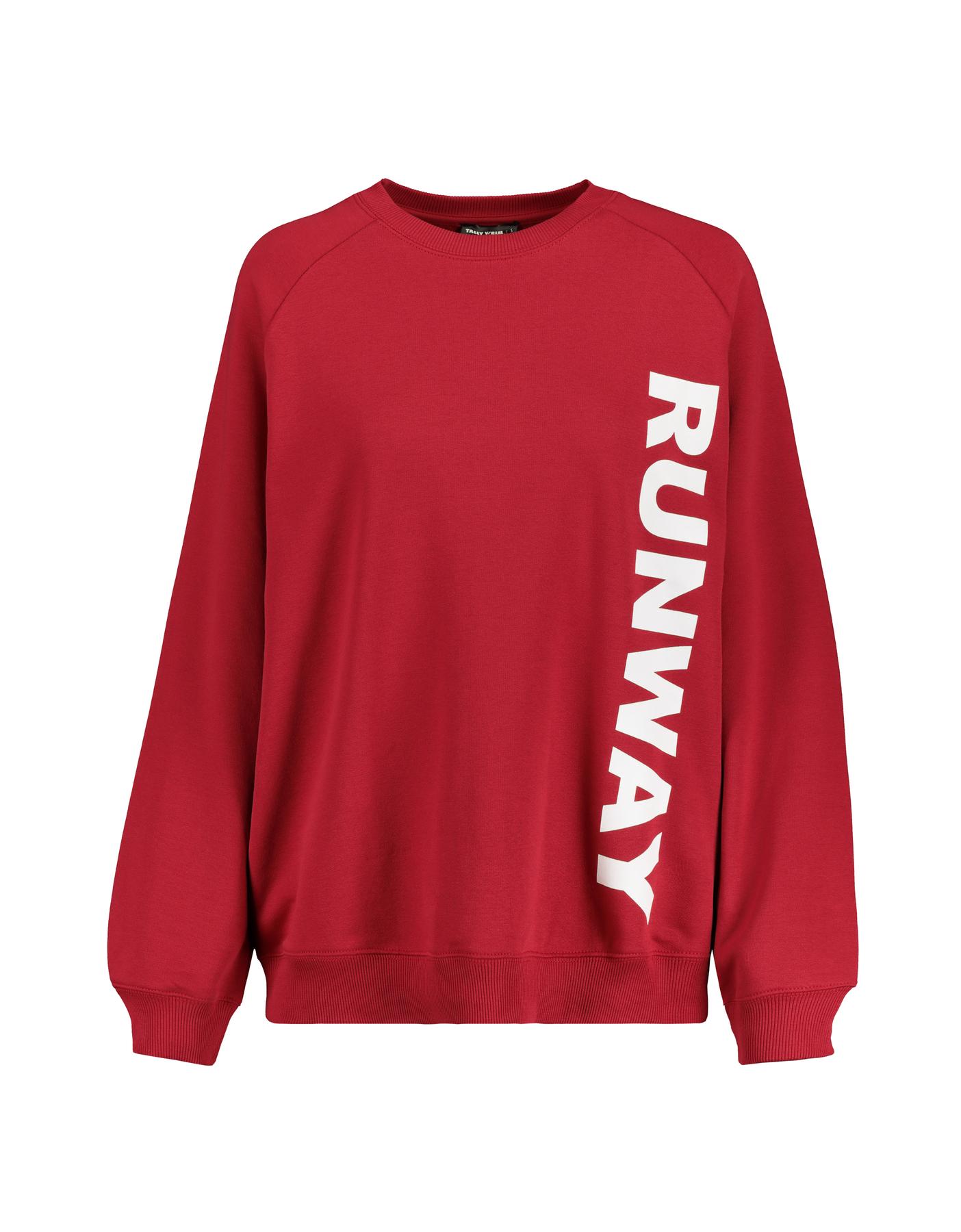 Red Oversized Sweatshirt