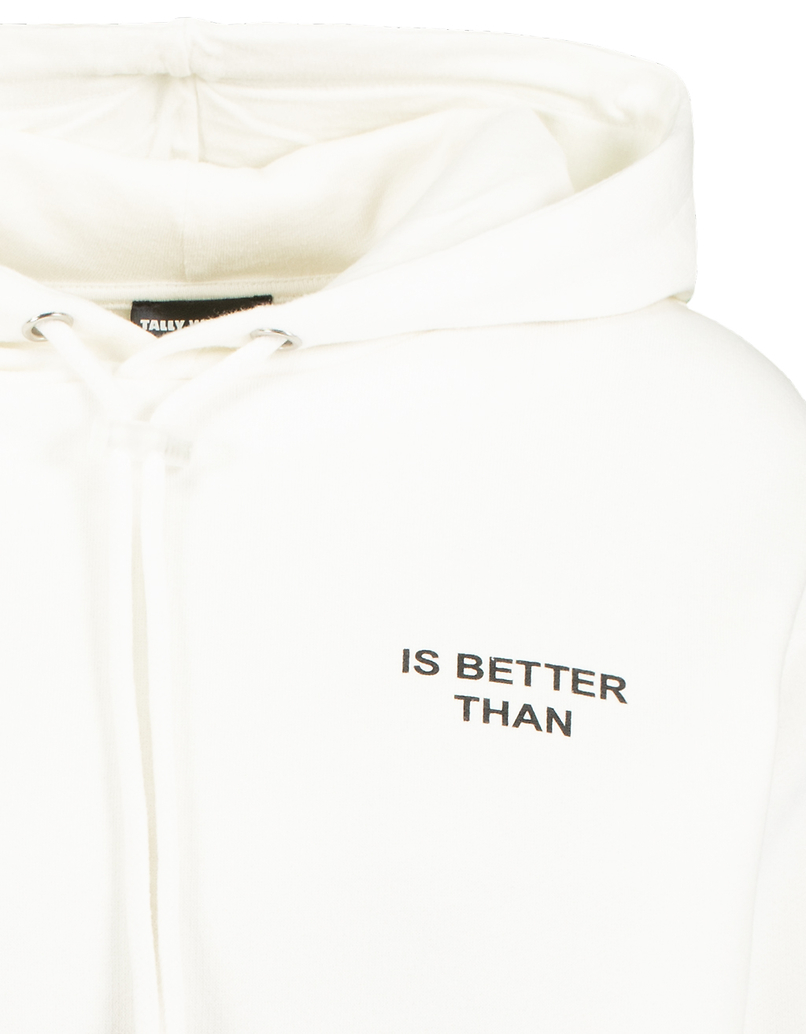 Sweat Blanc Imprimé Slogan