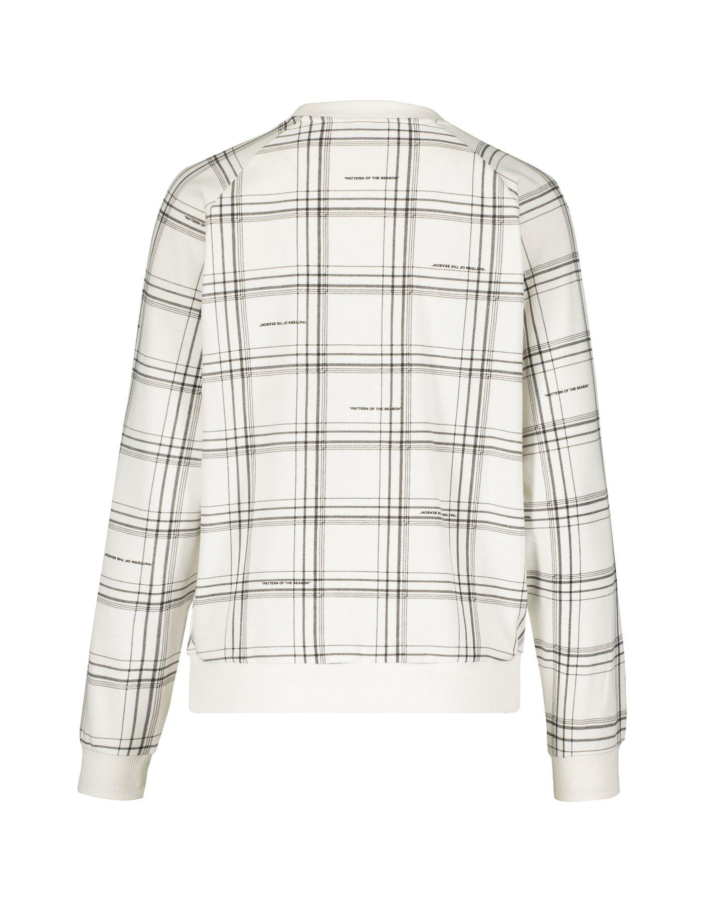 White Checked Sweatshirt