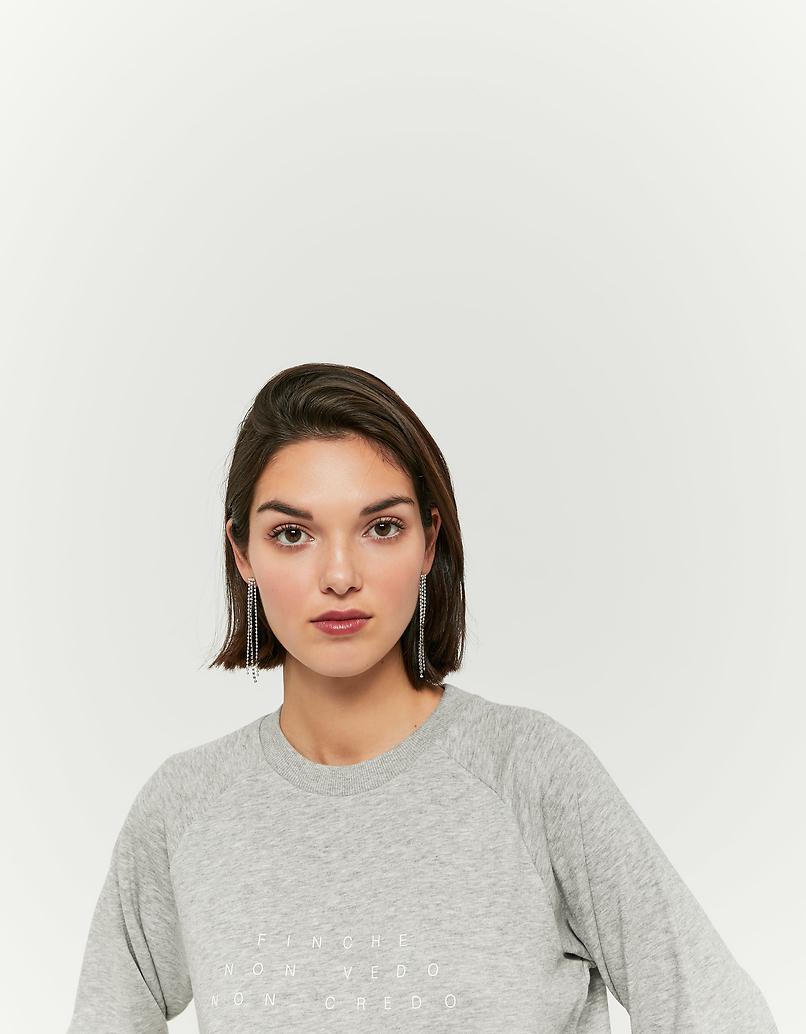 Szara bluza z nadrukiem