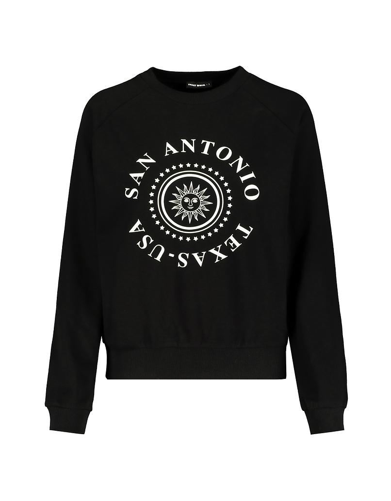 Black Print Sweatshirt