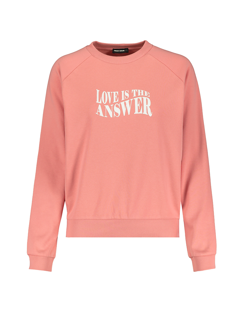 Pink Print Sweatshirt