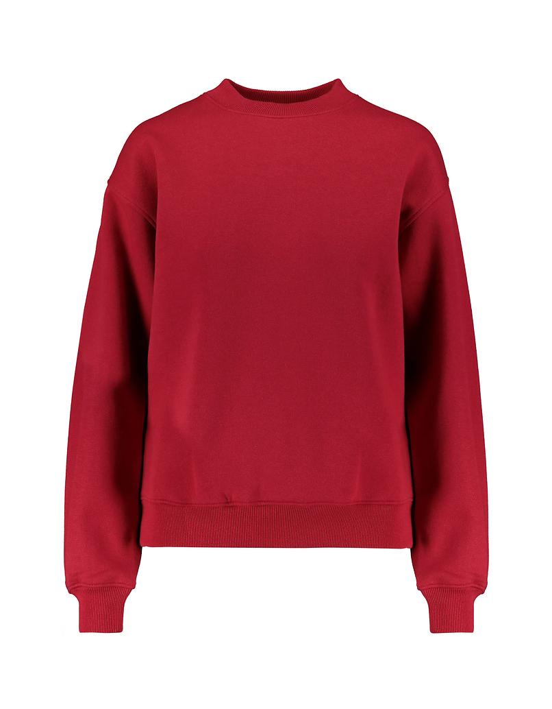 Red Sweatshirt with Slogan