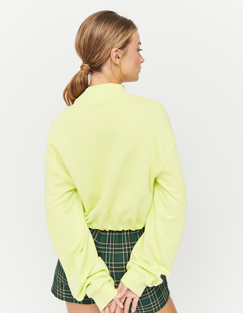 Lime Sweatshirt with Drawstring