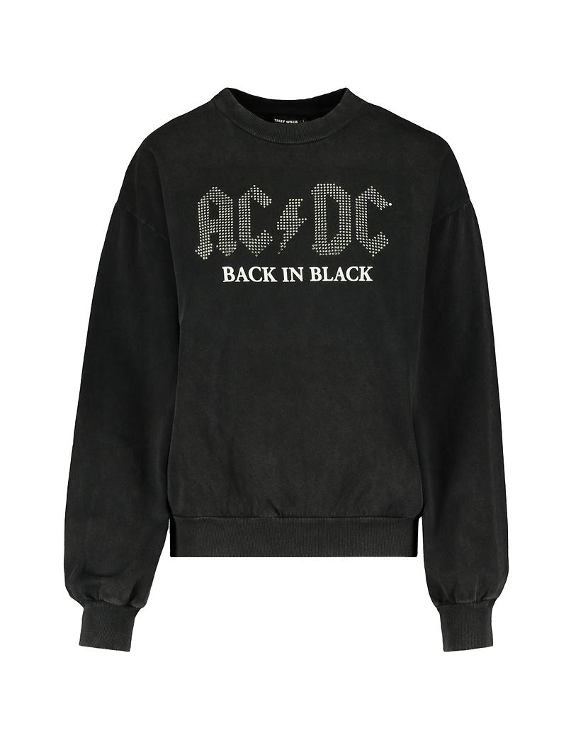 Grey ACDC Rhinestones Sweatshirt